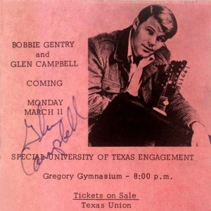 Bobbie & Glen concert flyer, 1968