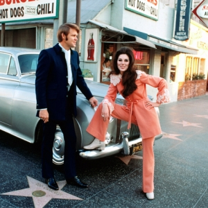Glen Campbell & Bobbie Gentry on Hollywood Boulevard by Dick Brown 1968