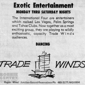 International Four Trade Winds newspaper ad 1966