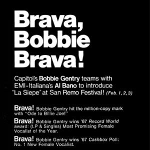 """La Siepe"" Cash Box ad, 1968"