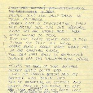 """""""Ode To Billie Joe"""" Song Lyrics, 1967"""